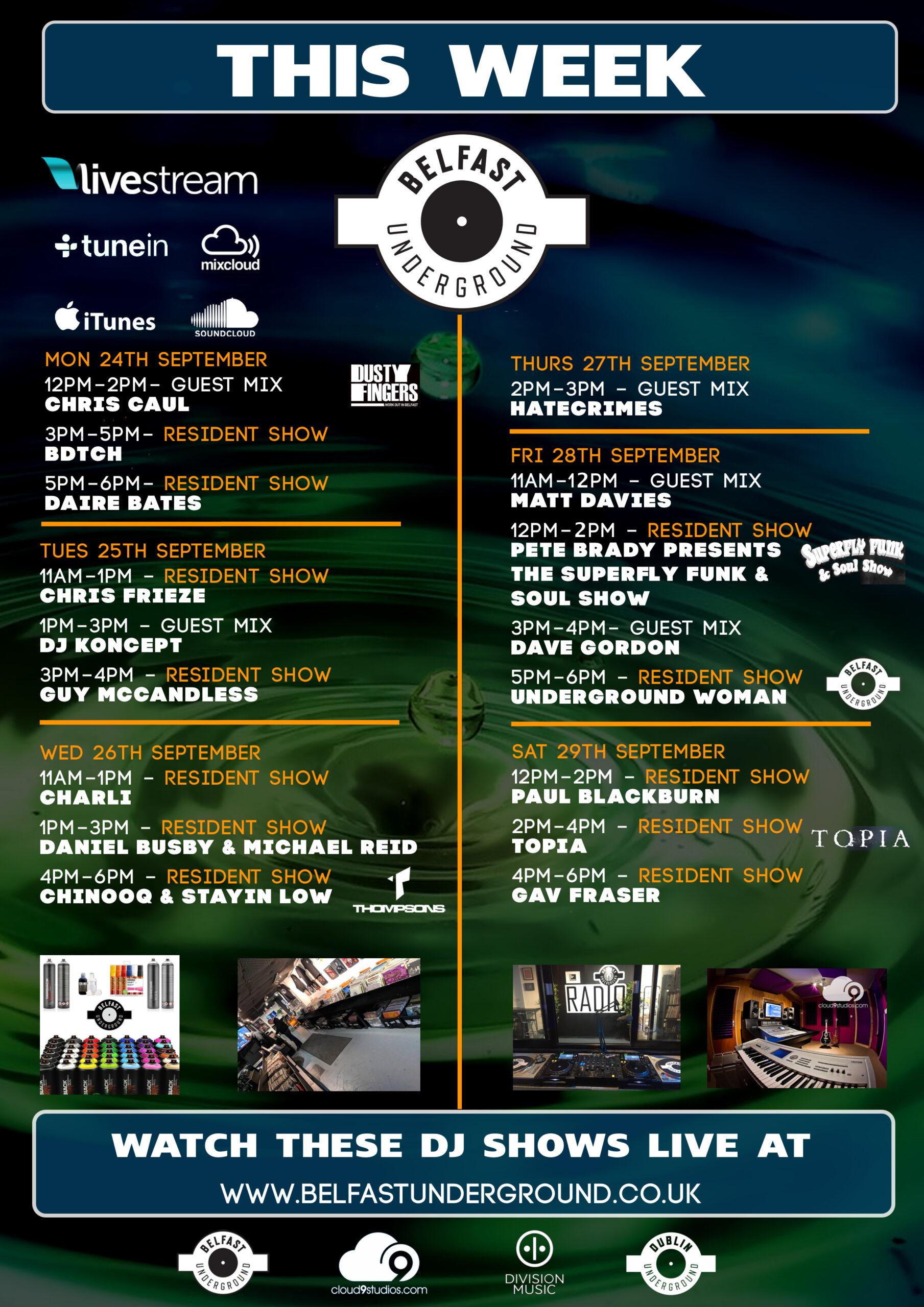 This week on Belfast Underground Radio