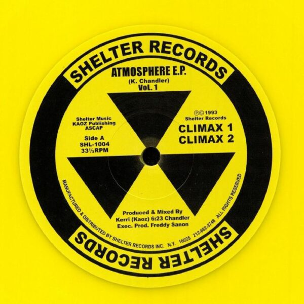 KERRI CHANDLER Atmosphere EP (Yellow Vinyl Re-Issue) SHELTER RECORDS