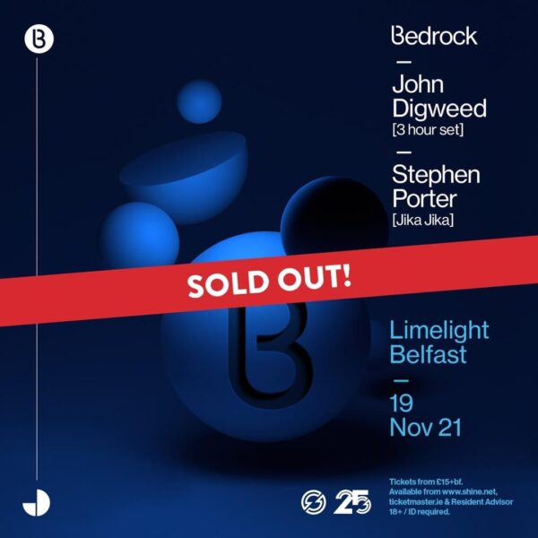 Bedrock Belfast at Shine sells out months ahead of event!